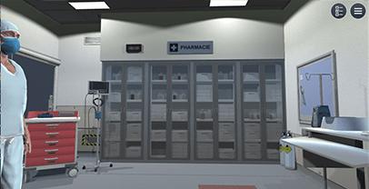 Serious Game – Ouverture du site d'anesthésie